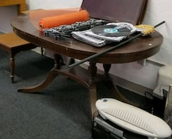 Vintage Claw Foot Dining Table