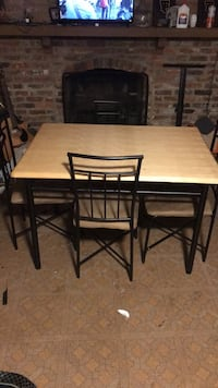 rectangular brown wooden table with four chairs dining set Montgomery Village, 20886