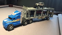 Blue freight truck toy