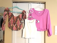 Cute summery crop tops all size small