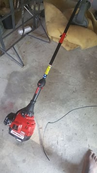 red and black string trimmer