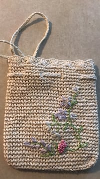 white and brown knitted handbag Parkersburg, 26104