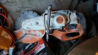 orange and white Stihl concrete cutter barely used Spruce Grove, T7X