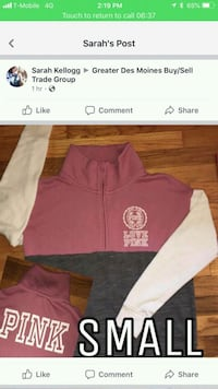 pink and gray Nike pullover hoodie Des Moines, 50315