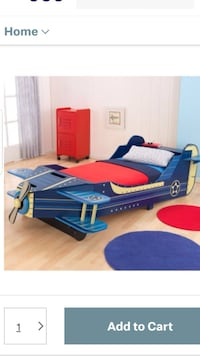 Blue and red bed frame Petal, 39465