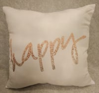"Brand New Super silky ""happy"" pillow Rocky Point"