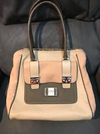 white and brown leather tote bag Surrey, V3Z