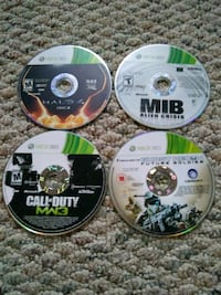 four Xbox 360 game discs Arlington, 22205