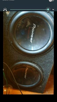 black and gray Pioneer subwoofer Sacramento, 95815