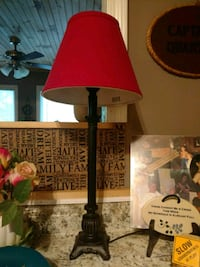 Nice new lamp with red shade