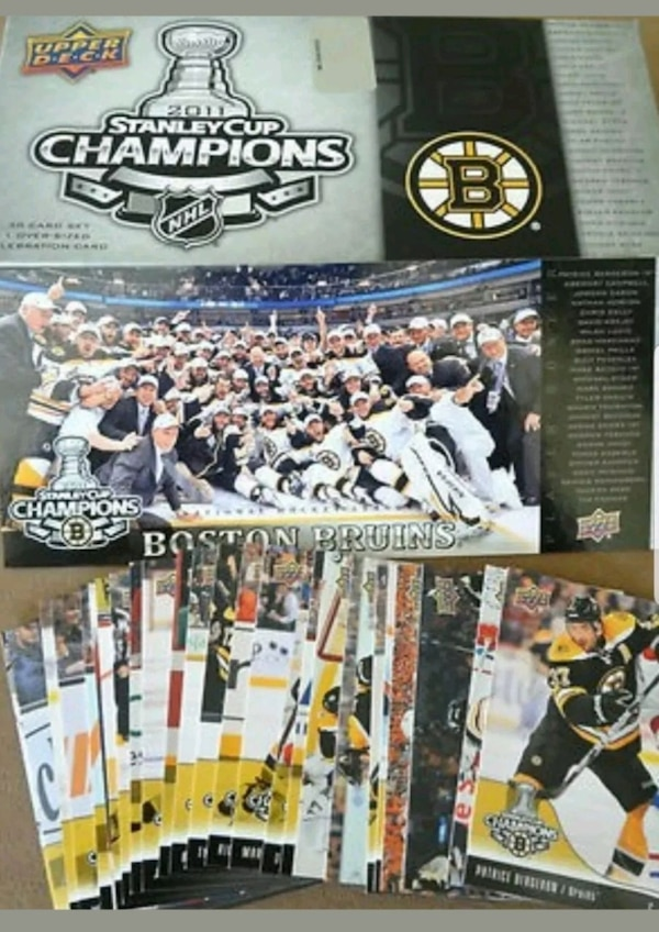 2011 Boston Bruins Stanley Cup Champions Hat Cards 8b96f4a6-7063-419c-b3f2-cf31e60a686a