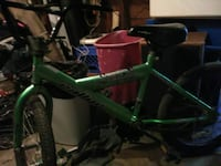 green and black BMX bike