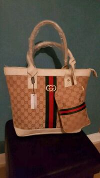 brown and red Michael Kors leather tote bag Falls Church, 22041