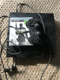 black Sony PS3 slim console with controller Toronto, M4B 1T2