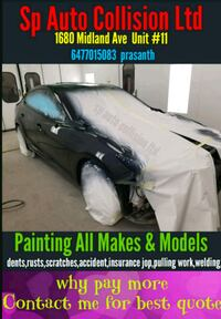 Auto body shop same day service  Toronto, M1P 3C6