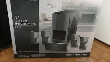 Black 5.1 multimedia home theater system box