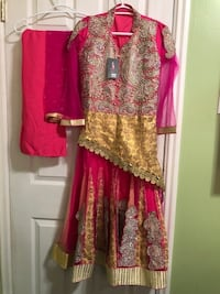women's pink and brown floral traditional dress Kitchener, N2H