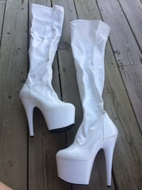 "Knee High Dancing Boots & Shoes - All 6"" Heel, Size 8's"