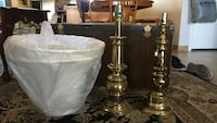 Brass and white table lamp Scottsdale, 85257