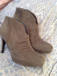 brown suede side zip pump booties Moncton, E1C 7B1
