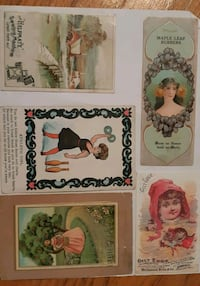 5 Victorian Trade Cards In excellent condition  -  Newmarket, L3Y 3J3