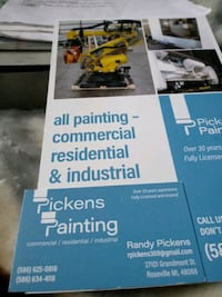 spraypainting industrial or house painting