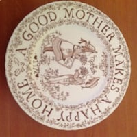 """Crownford China Co. """"A good Mother Makes a happy Home"""" vintage plate Saint Petersburg, 33701"""