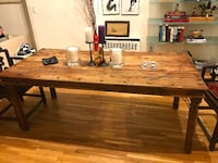 Handmade Large Spanish Style Wooden Dining Table