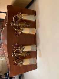 Antique candle wall mount