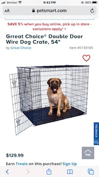 XL Dog Crate  with tray $75