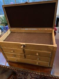 1960's brown wooden jewelry box Silver Spring, 20902