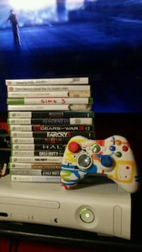 Xbox 360 with games and controller  Maywood, 90270