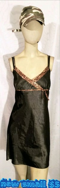 black and brown spaghetti strap dress Las Vegas, 89169