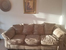 Beige Tan 3 Cushion Sofa