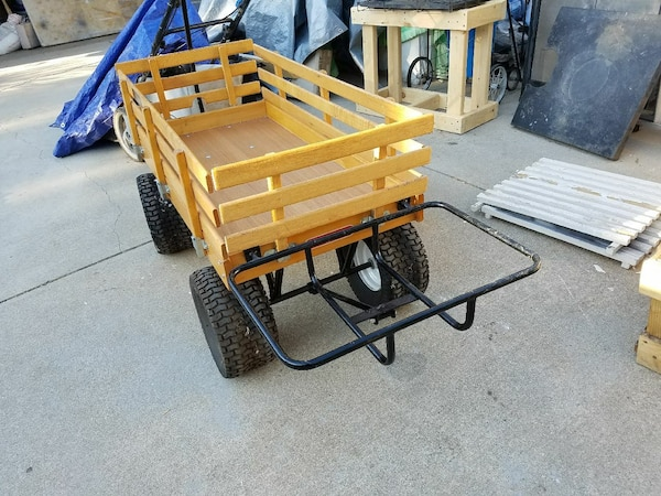 brown and black utility trailer