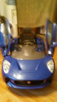 blue and gray ride-on toy 43 km