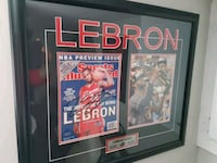 Lebron james signed sports illustrated  COA Mississauga, L5N 8L9