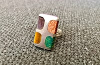 Vintage 70's ring sz 9 silver and semi precious gems Surrey, V3Z 5K3