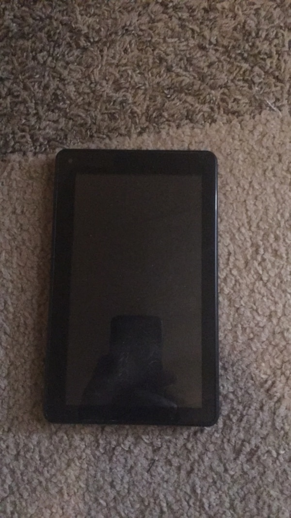 Black tablet computer with case