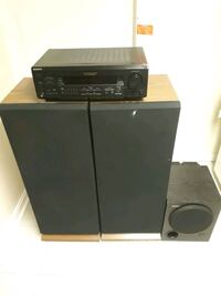 REALISTIC SYSTEM 1010. Three way speaker system, receiver & subwoofer Hyattsville, 20783