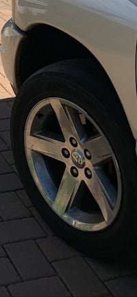 """Dodge Ram 1500 ,4 , 20"""" rims & tires oem fits many years and vehicles"""