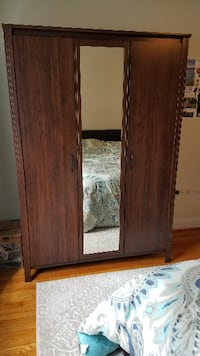 Wardrobe - armoire (Ikea Brusali brown) Silver Spring