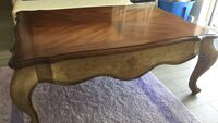 brown wooden single-drawer end table