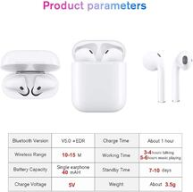 Mini white wireless earbuds TWS i12