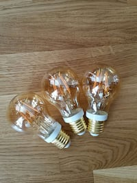 3 stk. Philips LED filament gold Duken, 3133