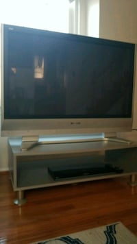 gray CRT TV with stand Sterling, 20165