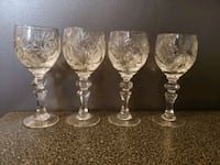 Set of 4 liquor crystal glasses  Mississauga, L4Y 2T8