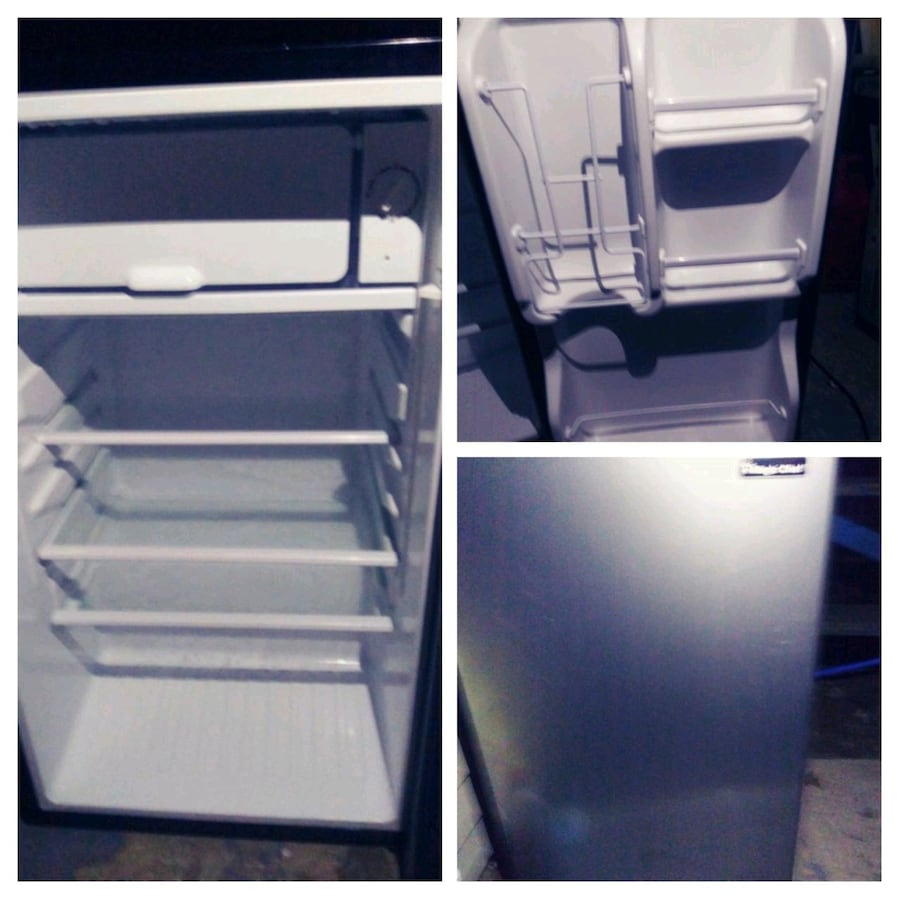 Stainless steel mini fridge make an offee