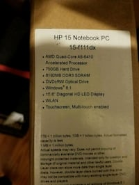 Hp 15-f111dx new in box laptop Pikesville, 21208