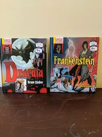 Dracula and Frankenstein hardcover graphic novels